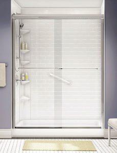 Shower with door